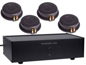 IBEAM Oberklasse-BassShakerSet keine Kompromisse Körperschallwandler IBEAM VT-200 mit Reckhorn A-409 Verstärker Wer bei seinem Bass-Shakerset keine Kompromisse in Sachen Leistung, Präzision, Geschwindigkeit, Bandbreite und Verzerrungsarmut ein gehen möchte, kommt am IBEAM-Set nicht vorbei. Es besteht aus einem Reckhorn A-409 Verstärker mit enormen Leistungsreserven und einem IBEAM VT-200 Körperschallwandler der als einer der Besten, wenn nicht sogar als der Beste gilt. Für das absolut perfekte Ergbnis empfehlen wir einen zweiten IBEAM.button_preisprüfen_orange IBEAM VT-200 technische Daten: Belastbarkeit 250 Watt max.kurzzeitig bis 700W (!), 100 Watt RMS Impedanz 4 ohm Frequenzbereich 1 Hz - 15.000 Hz (spürbar ab etwa 10Hz, Hörbar ab etwa 25 Hz) Minimale Montagefläche 175 mm x 110 mm Abmessungen 70 mm x 175 mm x 110 mm button_preisprüfen_orange Gewicht 1,6 kg Reckhorn A - 409 technische Daten: Leistung: 280 W rms / 0,7 % THD an 4 ohm // 380 W rms / 10 % THD an 4 ohm Leistung: 375 W rms / 0,7 % THD an 2 ohm // 485 W rms / 10 % THD an 2 ohm Frequenzgang Subwoofer out: 10 - 400 Hz / -1dB Frequenzgang Sateliten out: 30 - 40.000 Hz / -1dB Störabstand: über 95 dB Eingangsempfindlichkeit: variabel von 0,2 - 2 Volt / 10 k Ohm Tiefpass: variabel von 40 - 300 Hz / 24 dB Maximale Leistungsaufnahme: 700W Schutzschaltungen: Überhitzung und Kurzschluss durch Lautsprecherrelais Breite x Höhe x Tiefe: 425 x 100 x 240 mmbutton_preisprüfen_orange Gewicht: 8 kg